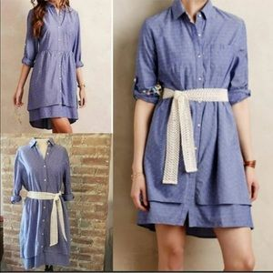 Anthropologie Isabella Sinclair Chambray Dress